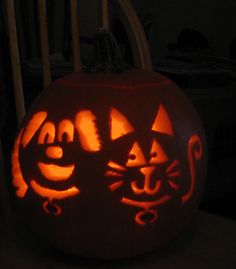 My Pets carved in a Pumpkin