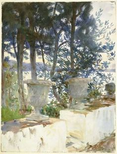 "John Singer Sargent's ""Corfu: The Terrace."" Museum of Fine Arts, Boston."