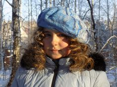 """Felt wool beret """"Blue sky"""" by ComfortFelt on Etsy"""