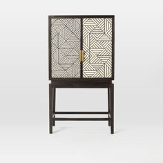 West Elm: Black and White Inlaid Drinks Cabinet - Mad About The House