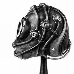 Brown Leather Art Gas-Mask. http://bobbasset.com/items/brown-leather-art-gas-mask #bobbasset #steampunk #gasmask #gasmaskgallery #leatherwork #art #fashion #dark #cyberpunk #bw