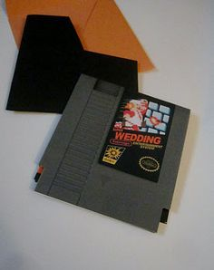 Super Mario Themed Invitations. If we had our wedding to do over again...