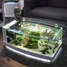 Amazing 10 Living Room Design With Coffee Table Fish Tank Ideas – DECOREDO fish tank ideas Amazing 10 Living Room Design With Coffee Table Fish Tank Ideas Table Aquarium, Aquarium Terrarium, Glass Aquarium, Diy Aquarium, Aquarium Design, Aquarium Fish Tank, Fish Tank Table, Fish Tank Coffee Table, Cool Coffee Tables