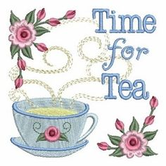 Time for Tea 9 - 4x4 | What's New | Machine Embroidery Designs | SWAKembroidery.com Ace Points Embroidery