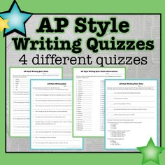 Test your students knowledge of AP style writing.   Associated Press Style writing quizzes for journalism students.