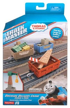 Thomas and Friends Track Master Dockside Delivery Crane Cargo and Cars Set: Mattel: Amazon.co.uk: Toys & Games