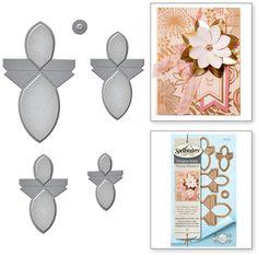Spellbinders Shapeabilities Die - Round Flower Fold n Go