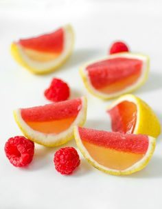 How To Make Better Jello Shots   These are raspberry lemonade Jello shots... and they look adorable.