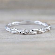 $2.56 AUD - 14K White & Yellow Gold Plated Cubic Zirconia Twined Infinity Vine Wedding Ring #ebay #Fashion