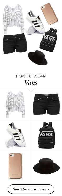 """""""black and white"""" by faithhb425 on Polyvore featuring Wildfox, Venus, adidas, Vans, Janessa Leone and Karen Millen"""