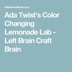 Make some color changing lemonade for a delicious and exciting edible science experiment. Perfect for STEM education at school and home. Or perfect for a summer party, too! Adds wow to any time you drink a glass of lemonade! Science Projects, Science Experiments, Butterfly Pea Flower Tea, Mermaid Drink, Brain Craft, Fruit Drinks, Lemonade, Lab, Homeschool