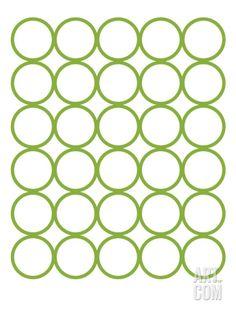 Green Circles Art Print by Avalisa at Art.com