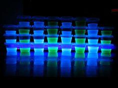 Blacklight Glowing Jello Shots - Cookbook Community