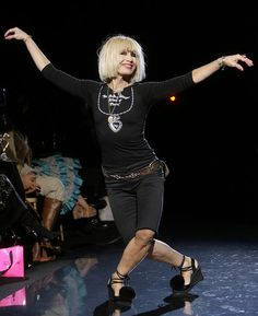"I love Betsey Johnson for the fact that she doesn't adhere to the ""norm."" She beats to her own drum, and even at her age she cartwheels down the runway after every fashion show. #IntroToPRProject"