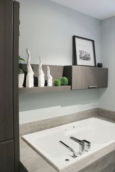 Today we are going to take a look at a few examples of laundry cabinets that will hopefully give you an insight on how to organize the space Laundry Room Cabinets, Laundry Room Bathroom, Bathroom Toilets, Bathroom Renos, Bathroom Interior, Small Bathroom, Washroom, Armoire Design, Landry Room