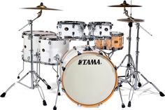 Tama Silverstar Hyper-Drive Drums: Piano White