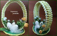 Recycle Newspaper, Newspaper Basket, Newspaper Crafts, Sun Paper, Paper Art, Dry Fruit Box, Easter Crochet, All Craft, Paper Folding