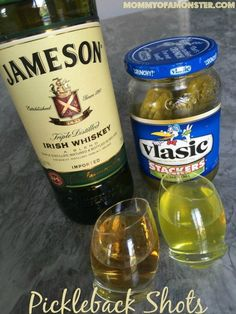If you're not a fan of taking shots, then you have to try a pickleback shot! It's a pickle juice chaser that cleanses your palette of the taste of alcohol.