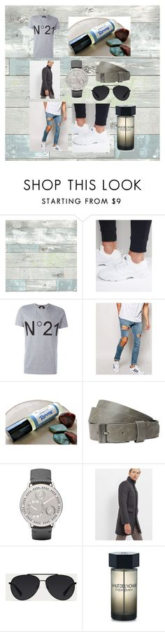 """""""Monokrom 2k12"""" by linus-isotalus on Polyvore featuring Wall Pops!, Reebok, N°21, ASOS, Billabong, Ressence, Ted Baker, Bally, Yves Saint Laurent and men's fashion"""