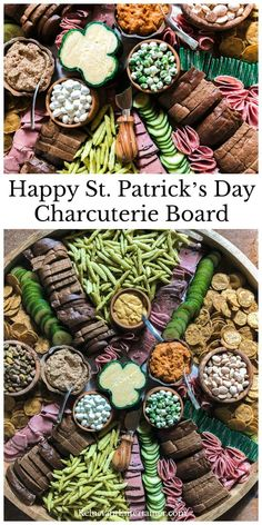 Patrick's Day Charcuterie Board Happy St. Patrick's Day Charcuterie Board is an Irish cheese board, served with a selection of Irish artisan charcuterie, Rye bread, mustard, and chocolate! Charcuterie Recipes, Charcuterie And Cheese Board, Charcuterie Platter, Cheese Boards, Antipasto Platter, Happy St Patrick, St Patrick Day Treats, Hp Sauce, Party Food Platters