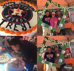 Baseball themed birthday with houston astros colors Ranckyleny