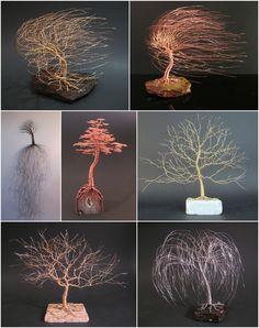 Stunning Wire Tree Sculptures