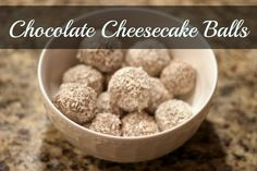 Chocolate Cheesecake Balls (roll in coconut) - Grassfed Mama (would be great for Christmas!)