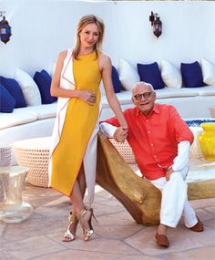 Lubov and Max Azria on the patio of their Holmby Hills estate. Description from la-confidential-magazine.com. I searched for this on bing.com/images