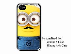 iPhone 4/4s Case  Despicable Me Minion With Funny by NiceFaceShop, $15.00