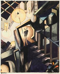 Nocturne, 1922 - Otto Tschumi watercolor, ink and graphite on paper Black Liquid, Paper Source, Nocturne, Watercolor, In This Moment, Ink, Graphite, Painting, Art