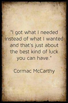 Cormac McCarthy.