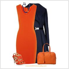 CHATA'S DAILY TIP: A shift dress, with a tailored jacket, is simple, yet so very sophisticated! Orange is so on-trend this season; balance the brightness with a classic jacket, in either navy, black or stone then accessorize accordingly. Opt for wide collars if you have a small bust and regular collars if you have a full bust. COPY CREDIT: Chata Romano Image Consultant, Marlise du Plessis http://chataromano.com/consultant/marlise-duplessis/ IMAGE CREDIT: Pinterest