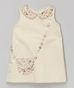 Zulily Handbag Appliqued Dress Perfect examples of how to wear children's clothes - Nähen - Baby Clothes Little Dresses, Little Girl Dresses, Girls Dresses Sewing, Dress Sewing, Baby Dresses, Dress Girl, Diy Dress, Wrap Dress, Fashion Kids