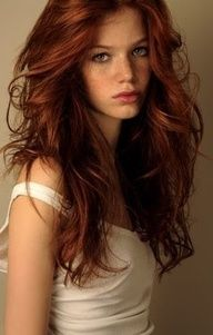 auburn hair - pretty color!  Not too far off from yours Erin!!!