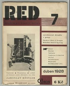 ReD. Ročník I/7, duben [april] 1928 ; Jaroslav Rössler: Fotomontáž = Photoplastique = Lichtbild. (1927-1931)