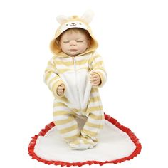 87.20$  Watch now - http://aliani.worldwells.pw/go.php?t=32747242376 - New Arrival Reborn Baby Dolls 20 Inch 50 cm Waterproof Newborn Sleeping Babies Toy With Hair Shooting Props Kids Birthday Gift