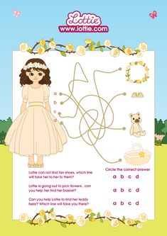 Royal Flower Girl Lottie - Puzzle Can You Help, Childhood Days, Something To Do, Puzzle, Teddy Bear, Dolls, Flower, Cute, Baby Dolls
