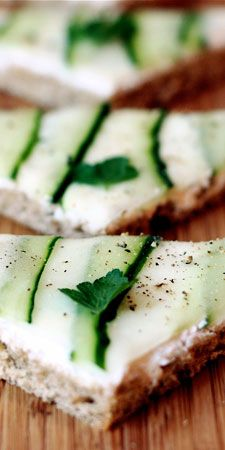 I love tea sandwiches, and of the lot, cucumber ones are my favorite.