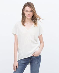 ZARA - WOMAN - BLOUSE STYLE T-SHIRT WITH OPEN BACK