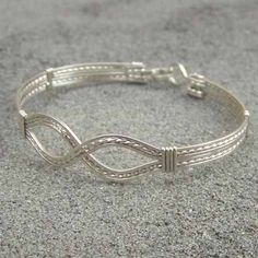 Infinity Design Sterling Silver Wire-Wrapped Bracelet