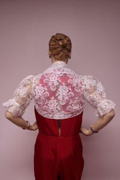 Custom Design Sheer Ivory Bridal Lace Boleros, shrugs