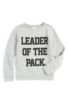 The little one will look too cute heading back to school in this varsity-cool sweatshirt.