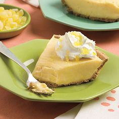 My nana used to make lemonade pie and even though this isnt the actual recipe its worth a try!