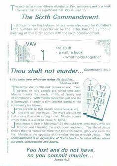 Covenant, 6th Commandment