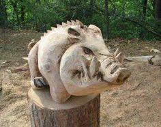 Carved hog