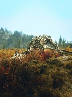 The gravesite of empty bones, who once fought, and lost their soul to a mere mortal. Dovahkiin.
