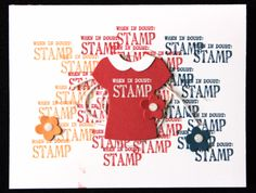 Stampin Up Occasions Catalogue 2017 On Stage stamping presentation sample by SU presenters using Custom Tee stamp set and T-shirt Builder Framlits. Click through for 9 more OnStage samples.