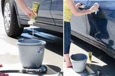 Wash your car with hair conditioner.