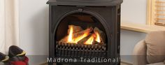 The Valor Madrona gas stove offeres several unique design styles to fit any room style. Valor Fireplaces, Gas Stove, Fashion Room, Gas Fireplace, Home Appliances, Traditional, Wood, Design, House Appliances