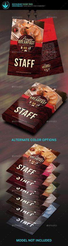 Restaurant Event Pass Template